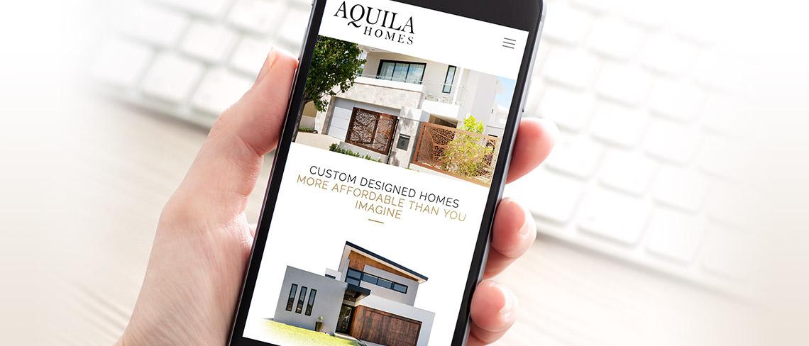 Aquila Homes Website Design | Brett Jones | Design Perth